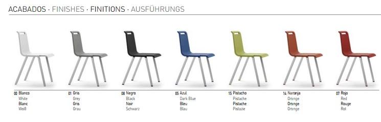Colores silla MIT de ACTIU. Muebles de oficina