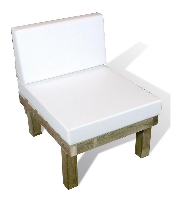 Sofá CHILLOUT de 1 plaza en madera de Autoclave para exterior