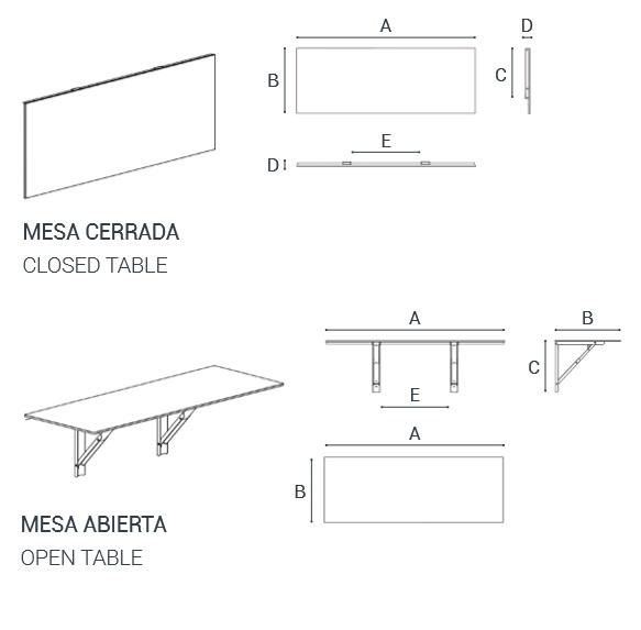 Mesa de cocina plegable diseño | Muebles y complementos para ...