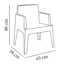 Resol Box Urban chair measures