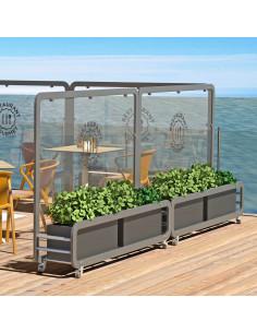 Biombo separador con jardineras para terrazas mse1104002