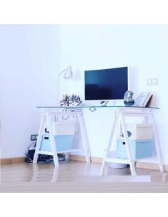 Height adjustable colors trestle desk kme2016001