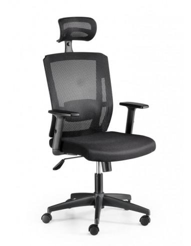 Cadira d'oficina giratòria malla Sofia d'Euromof ste2033006