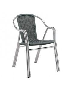 La cadira, l'hospitalitat apilable alumini sho1032007