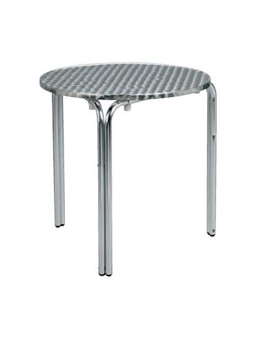Mesa hotelaria alumínio redonda para terraços mho1032005