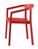Silla PEACH de RESOL apilable en colroes. Opcion de asiento tapizado.sho1032010