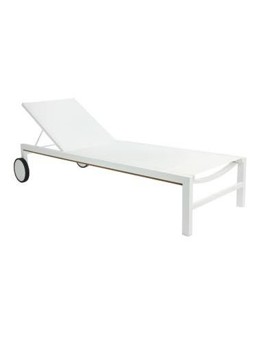 Chaise Longue piscine en aluminium et texthilene sho1032036