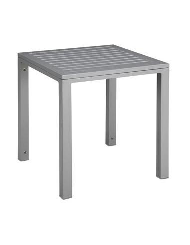Mesa auxiliar para piscina y playa CUBIC aluminio mho103222