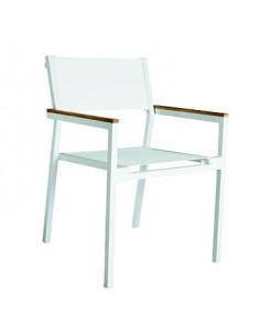 Chaise empilable Shio sho1032047 en aluminium et texthilene blanc