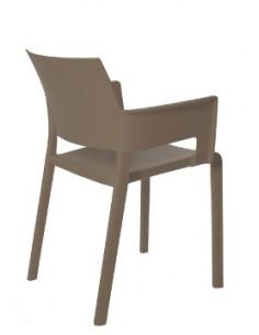 Silla fiona con opción de asiento tapizado de RESOL apilable con brazos para restaurantes en color