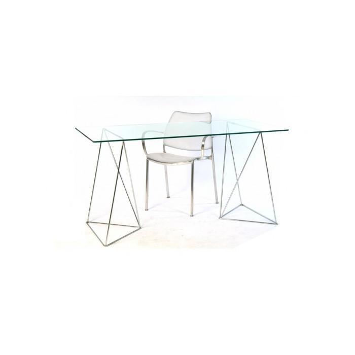 Mesa de escritorio para ordenador de caballetes met licos for Pedestales metalicos para mesas