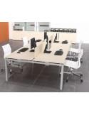 Separador para mesa oficina M4 mop1101013 en conjunto de 4