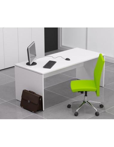 140x80cm Mesa oficina madera QUO mop1101015 color blanco