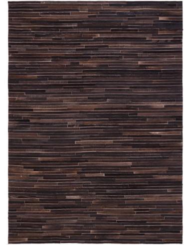 Tapis en cuir LINES CARVING coal1153005