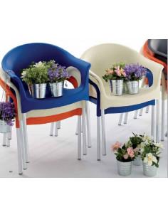 Cadira PIA de polipropilè apilable per a terrassa de bar i cafeteries sho1145005