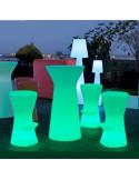 Tavolo alto sgabello con luce mho1146001 colpor marrone taupe