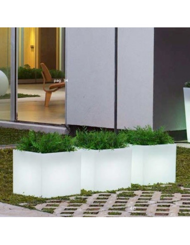 Vaso de projeto Narciso com luz lil1146008 na cor branca