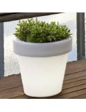 Vaso de projeto Magnolia com luz lil1146009 jardineira