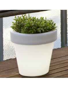 Design plant and flowers pot Magnolia whit light lil1146009
