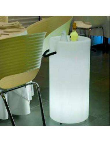 Cubitera-enfriador de botellas Palma con luz lil1146012