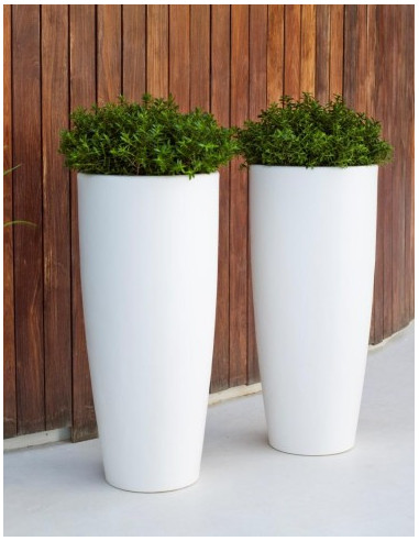 Macetero jardinera de dise o modelo bambu decoraci n de exterior - Jardineras con bambu ...