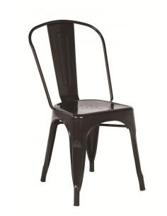 stackable Vintage metal chair sho1040006 in black color