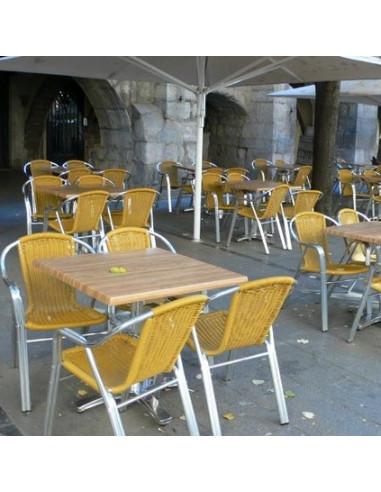 Terrace exemple: 4m sun umbrella and aluminum furniture kho1032019
