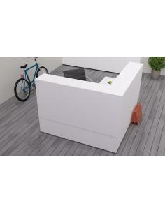 160x160cm Mostrador de oficina madera QUO mop1101020 vista interior