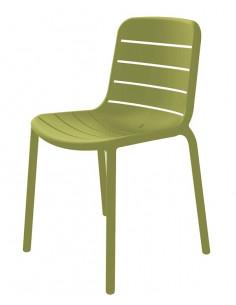 Sedia GINA impilabile sho1032075 colore verde RESOL