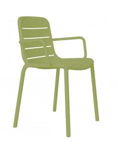 Sedia GINA braccia sapilable sho1032076 colore verde RESOL