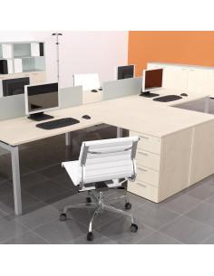 Return for Office Desk 120x60 with pedestal cabinet mop1101032