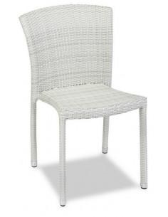 Sedia ospitalità MRM104 rattan bistrot sho1092015 bianco