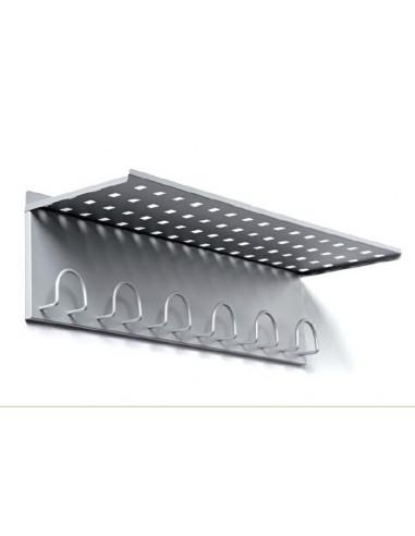 Metallic wall Rack with shelf pau407002