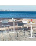 Cadira d'alumini apilable Barceloneta de ISIMAR sho1145006
