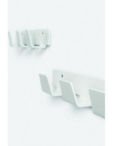 Penjador de paret disseny de color blanc 3, 4 o 6 abric penjadors pau1032002