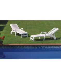 Sedia a sdraio pieghevole Ibiza RESOL sho1032080 bianco