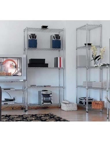 Wire shelving 180x60cm aes1037012 metro 5 shelves