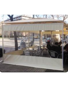 Cortina lateral paravientos para parasol de 3m pho2005002