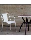 Fauteuil de terrasse de bar vintage en aluminium sho1100003