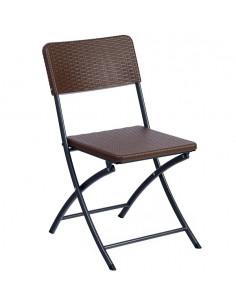 Cadira plegable Easy Ratan Resol en blanc o xocolata spl1032004