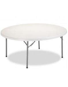 Table banquet pliante plateau polyethylene diamètre 180cm mpl1092017