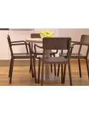 Sillón LISBOA RESOL apilable con opción de asiento tapizado Muebles para hostelería y terraza