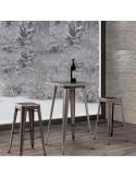 Vintage metal stool sta1040006