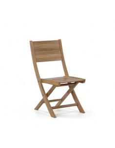 Silla plegable de madera de teka sho887008