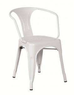 Vintage metal armchair sho1040007 white and black