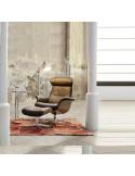 Fauteuil relax pivotant Timeout sdi887001 en cuir brun