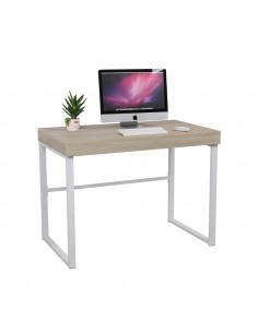 Oak and white desk 100cm mes222001