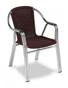 Aluminium bistrot armchair MRM284 sho1092017