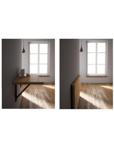 Table rebattable en bois laminée mco1150004