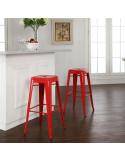 Vintage metal stool replica tolix sta1040006